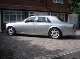 Silver Rolls Royce Phantom for weddings in London
